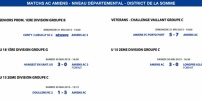 Matchs de District - Weekend du 30 et 31 mai