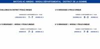 Matchs de District - Weekend du 12 et 13 septembre