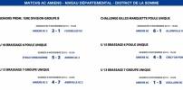 Matchs de District - Weekend du 8 et 9 novembre