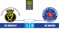 US QUEVILLY / AC AMIENS : 1-0