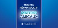 Matchs amicaux en préparation de la saison 2014-2015 - Tous les résultats