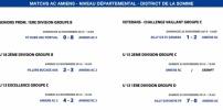 Matchs de District - Weekend du 22 et 23 novembre