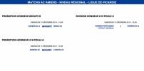 Matchs de la Ligue - 14 décembre