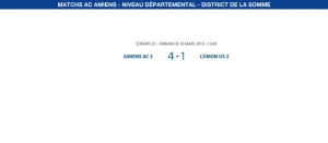 Matchs de District - 10 mars