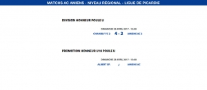 Matchs de la Ligue - 23 avril