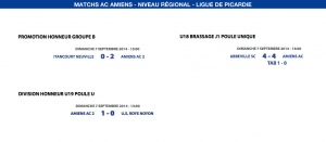 Matchs de la Ligue - 7 septembre