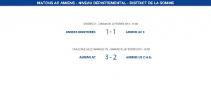 Matchs de District - 24 février