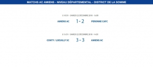 Matchs de District - 22 décembre