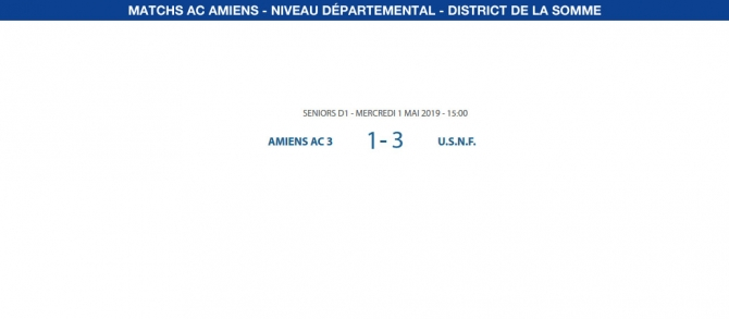 Matchs de District - 1er mai