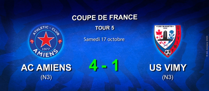 Coupe de France Tour 5 : AC AMIENS / US VIMY (4-1)