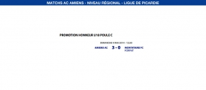 Matchs de la Ligue - Weekend du 3 et 4 Mai