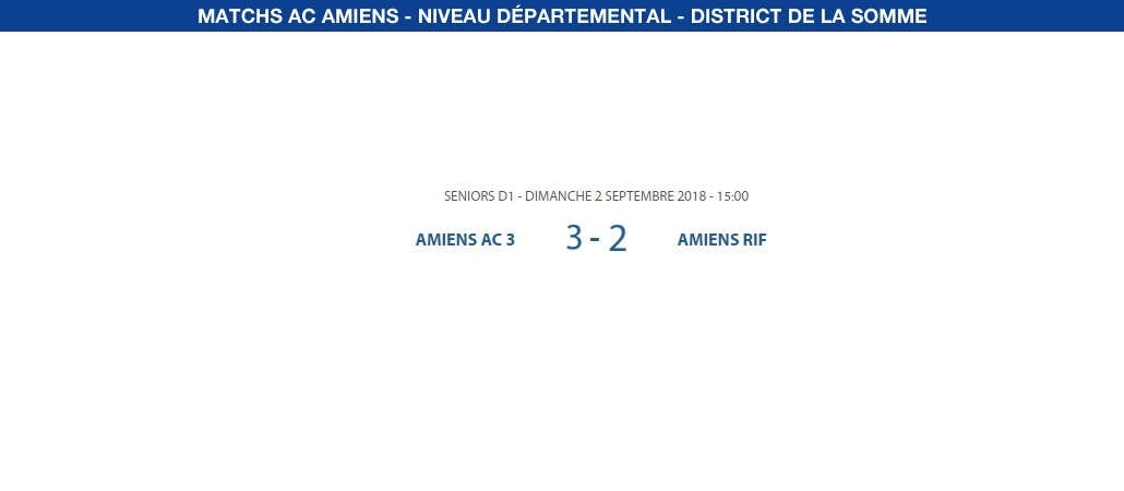 Matchs de District - 2 septembre