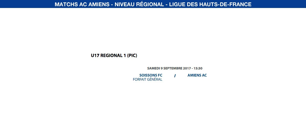 Matchs de la Ligue - 9 septembre