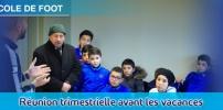 École de Foot - Réunion avant les vacances de Noël