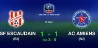 Coupe de France - USF ESCAUDAIN / AC AMIENS (1-1 TaB 3-5)