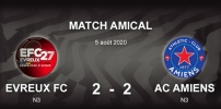 AMICAUX : EVREUX FC 27 / AC AMIENS (2-2)