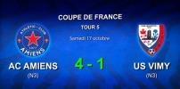 Coupe de France Tour 5 : AC AMIENS / US VIMY (4-1)