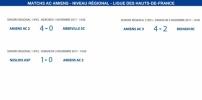 Matchs de la Ligue - 1er et 5 novembre