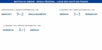 Matchs de la Ligue - 8 et 9 septembre